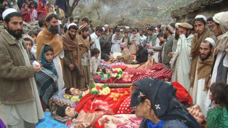 Un funeral de afganos muertos en un ataque en la provincia de Kunar, en diciembre de 2009
