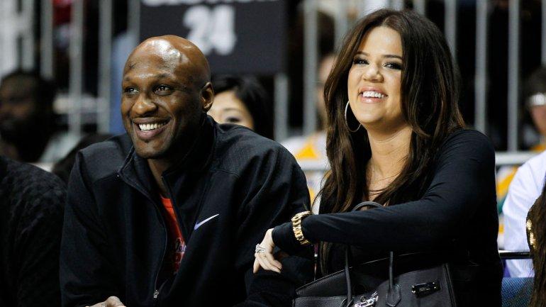 Lamar Odom junto a su ex esposa Khloe Kardashian