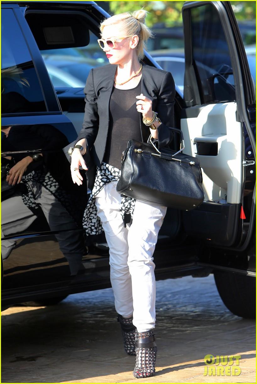Gwen Stefani Dines At Nobu With Kingston Amp Zuma Photo