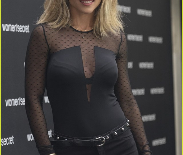 Elsa Pataky Is Sleek Sexy In Black Outfit For Womens Secret