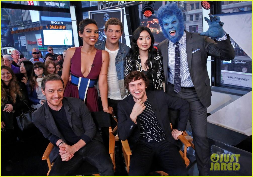 X Men Apocalypse Cast Visit Good Morning America Photo 3665004 Alexandra Shipp Evan