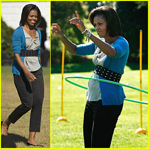 Michelle Obama Hula-Hoops for Healthy Kids | Michelle ...