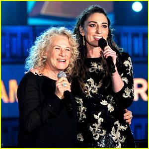 Sara Bareilles & Carole King Perform at Grammys 2014! (Video)