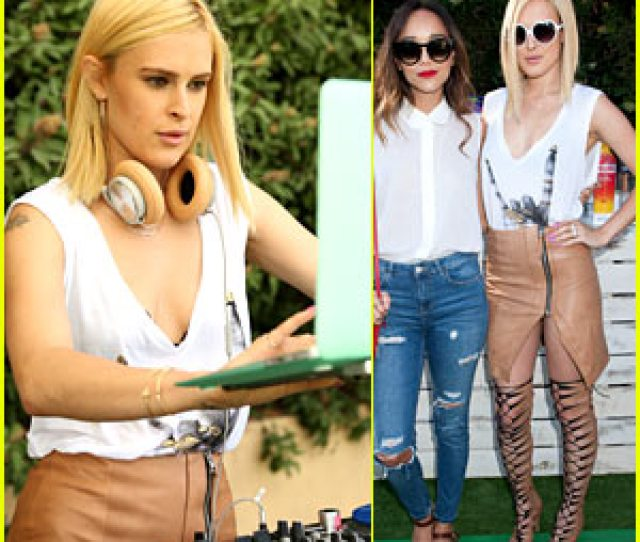 Dj Rumer Willis Spins The Just Jared Summer Fiesta With Dominic Carter And The British Bardot