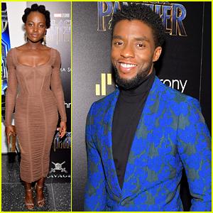 Chadwick Boseman, Lupita Nyong'o, & 'Black Panther' Cast Screen the Movie in NYC!