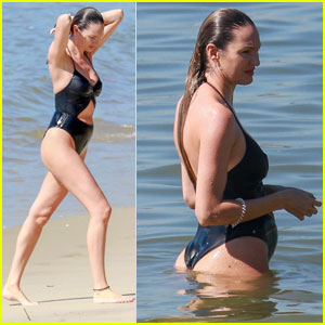 Candice Swanepoel Hits the Beach in Brazil After Giving Birth!