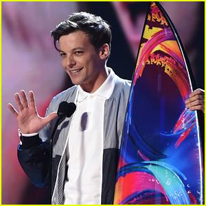 Louis Tomlinson Wins Choice Male Artist at Teen Choice Awards 2018!