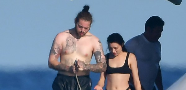 Post Malone Cozies Up to Mystery Woman on Yacht in France ...