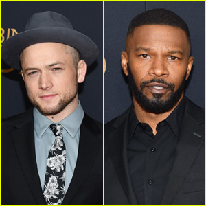 Taron Egerton & Jamie Foxx Hit the Red Carpet at 'Robin Hood' Premiere in NYC!