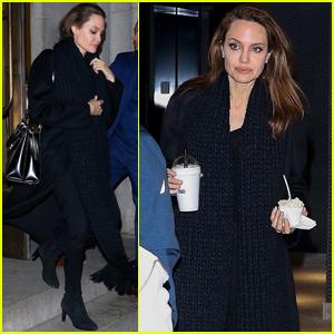 Angelina Jolie Has a Family Dinner in New York City!