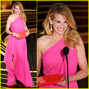 Julia Roberts Wows in Pink Dress While Presenting at Oscars 2019