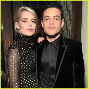 Rami Malek & Lucy Boynton Couple Up at Vanity Fair's Toast to 'Bohemian Rhapsody'