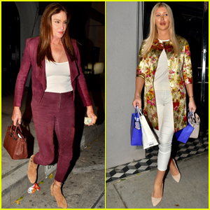Caitlyn Jenner & Sophia Hutchins Step Out for Dinner in Weho