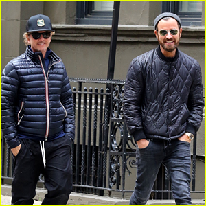 Justin Theroux Hangs Out with David Spade in New York
