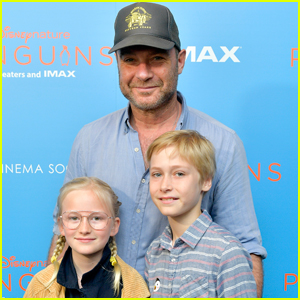 Liev Schreiber Brings His Kids to 'Penguins' Screening in NYC