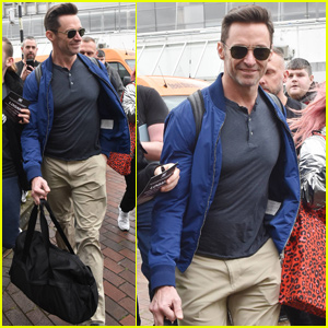 Hugh Jackman Gets Mobbed By Fans While Arriving in Ireland