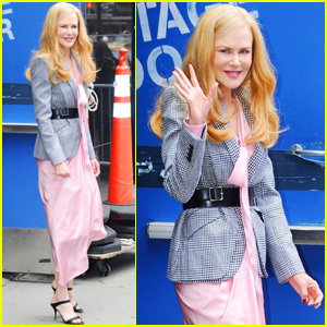 Nicole Kidman Is Pretty in Pink For 'Good Morning America' Appearance