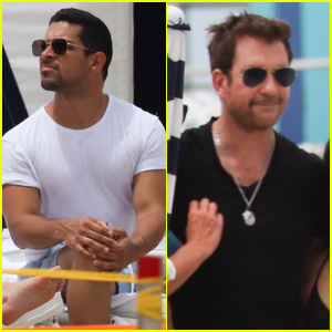 Wilmer Valderrama & Dylan McDermott Hit the Beach Together in Miami!