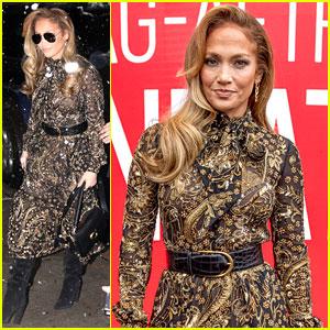 Jennifer Lopez & 'Hustlers' Cast Brave the Snow for SAG Event in New York!