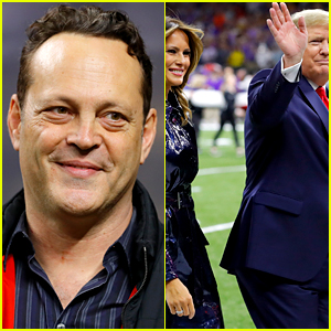 Vince Vaughn Greets Donald Trump & Melania at College Football Game in New Orleans