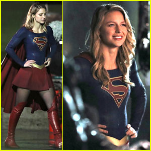 Melissa Benoist Gets Into Character On The Supergirl Set David Ajala Melissa Benoist Supergirl Just Jared Jr