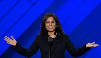 Neera Tanden, President of the Center for American Progress Action Fund, speaks during the third day of the Democratic National Convention (Getty Images)