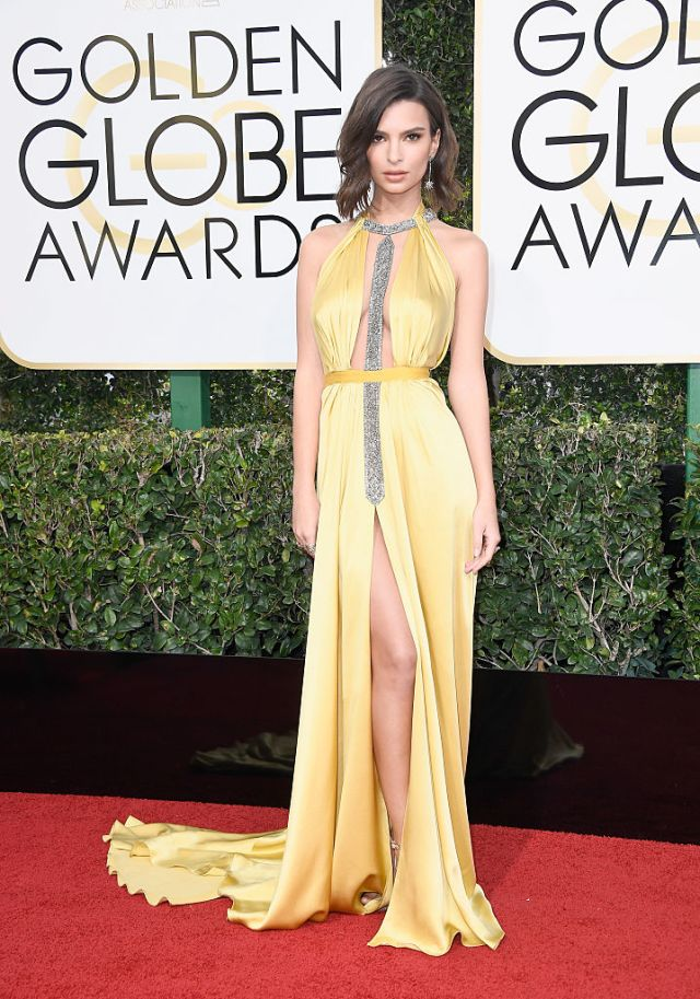 Actress/model Emily Ratajkowski attends the 74th Annual Golden Globe Awards at The Beverly Hilton Hotel on January 8, 2017 in Beverly Hills, California. (Photo by Frazer Harrison/Getty Images)