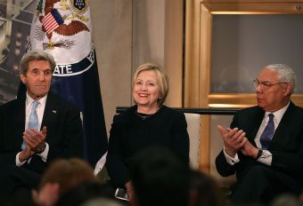 John Kerry, Hillary Clinton, Colin Powell (Getty Images)