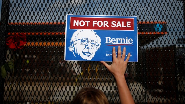 Bernie Sanders sign Reuters/Adrees Latif