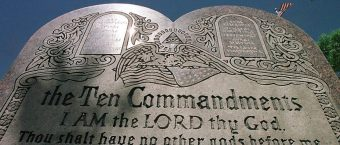 Man Pulverizes Arkansas' New Ten Commandments Display [VIDEO]