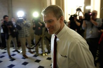 Rep. Jim Jordan walks into the Speaker's office on Capitol Hill in Washington, March 23, 2017. REUTERS/Yuri Gripas