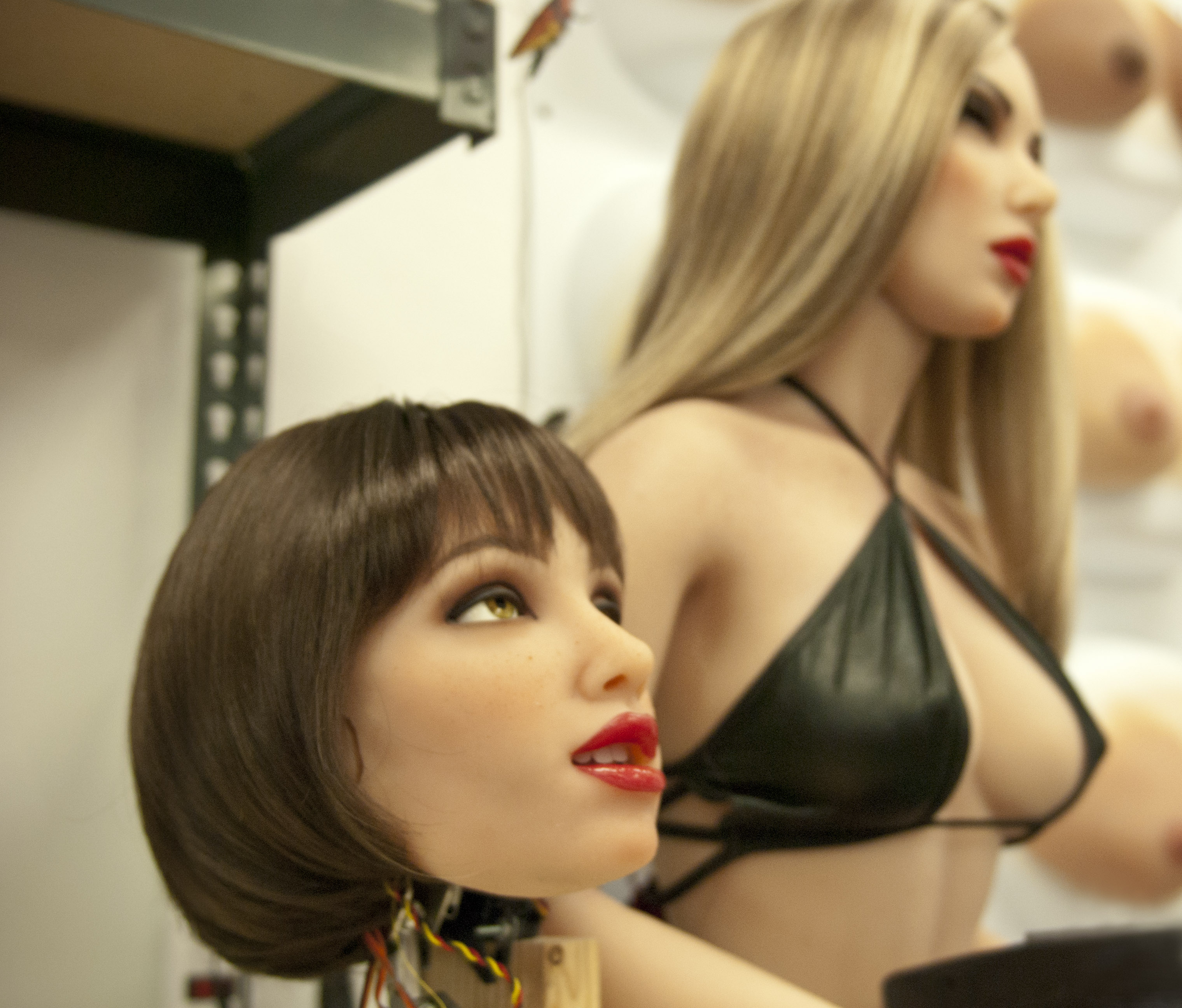 An almost-finished sex robot.
