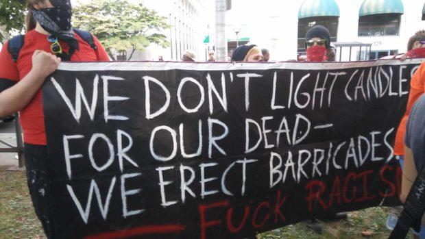 New Haven Antifa (Photo: Davis Richardson/The Daily Caller)