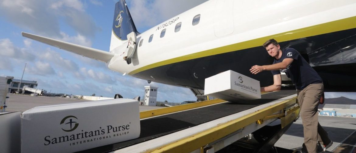 Samaritan's Purse DC-8 Cargo Plane loads relief supplies for the Caribbean after Hurricanes Harvey and Irma (provided to TheDCNF courtesy of Samaritan's Purse)