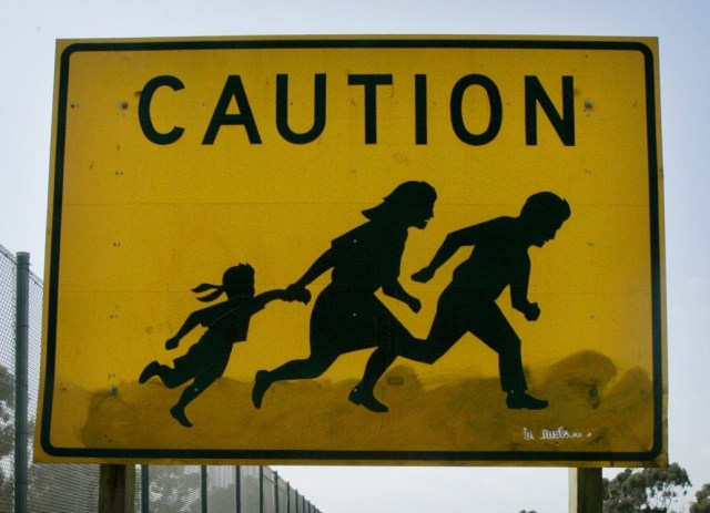 immigration sign Getty Images/Sandy Huffaker