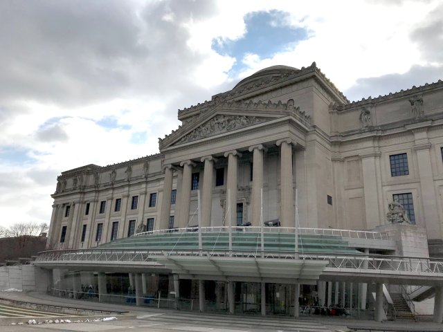 The front of the Brooklyn Museum in New York City. (DCNF/Ethan Barton)
