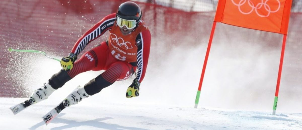 Alpine Skiing – Pyeongchang 2018 Winter Olympics – Men's Downhill Training – Jeongseon Alpine Centre - Pyeongchang, South Korea – February 8, 2018 - Manuel Osborne Paradis of Canada trains. REUTERS/Christian Hartmann