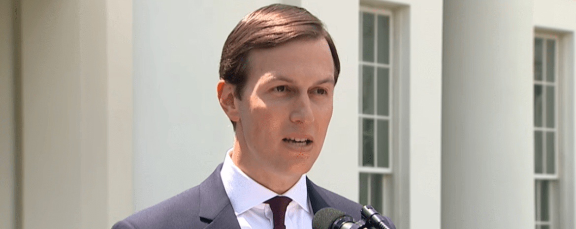 Jared Kushner speaks in front of the White House. (YouTube screen capture/PBS News Hour)