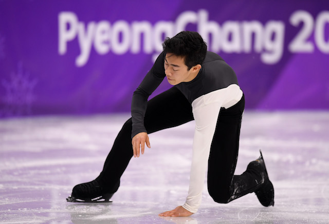 GANGNEUNG, SOUTH KOREA - FEBRUARY 16: Nathan Chen of the United States competes during the Men's Single Skating Short Program at Gangneung Ice Arena on February 16, 2018 in Gangneung, South Korea. (Photo by Harry How/Getty Images)