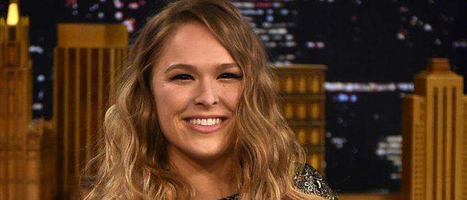 NEW YORK, NY - MARCH 24:  Ronda Rousey Visits