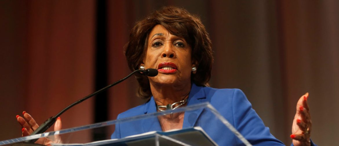 Congresswoman Maxine Waters addresses the audience at the 'Ain't I a Woman?' Sojourner Truth lunch, during the three-day Women's Convention at Cobo Center in Detroit, Michigan, U.S., October 28, 2017. REUTERS/Rebecca Cook?