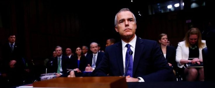 Acting FBI Director Andrew McCabe waits to testify before the U.S. Senate Select Committee on Intelligence on Capitol Hill in Washington, U.S. May 11, 2017. REUTERS/Eric Thayer | Andrew McCabe Writes Op-Ed About Firing
