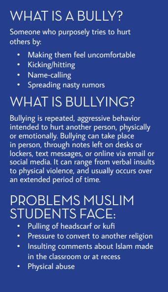 CAIR California Muslim Bullying Pamphlet (Credit: Screenshot/CAIR-CA)