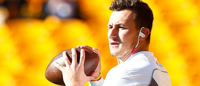 PITTSBURGH, PA - NOVEMBER 15:  Johnny Manziel #2 of the Cleveland Browns warms up before the start of the game against the Pittsburgh Steelers at Heinz Field on November 15, 2015 in Pittsburgh, Pennsylvania.  (Photo by Jared Wickerham/Getty Images)