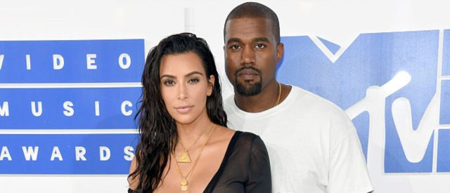 NEW YORK, NY - AUGUST 28:  Kanye West and Kim Kardashian West attend the 2016 MTV Video Music Awards at Madison Square Garden on August 28, 2016 in New York City.  (Photo by Jamie McCarthy/Getty Images)