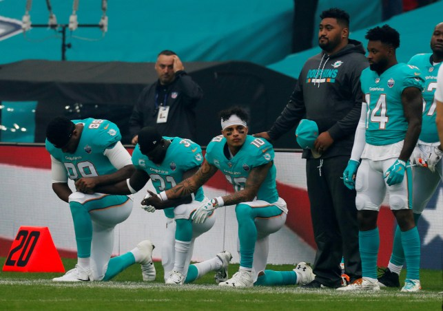 Kneeling And Raised Fists During The National Anthem Mark First Preseason NFL Games