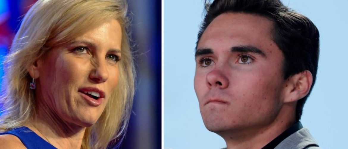 A combination of file photos show media personality Laura Ingraham in Washington October 14, 2017 and Marjory Stoneman Douglas High School student David Hogg, at a rally in Washington March 24, 2018. REUTERS/Mary F. Calvert, Jonathan Ernst/Files | Advertiser Jumps Back On Team Ingraham