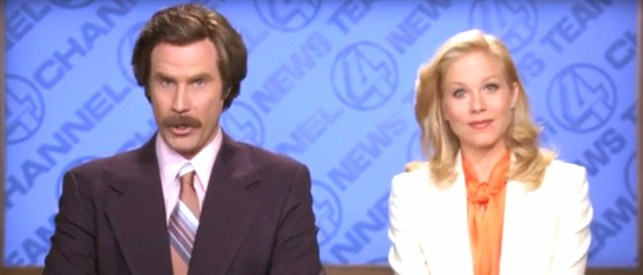 Anchorman Ron Burgundy  YouTube screenshot Movieclips