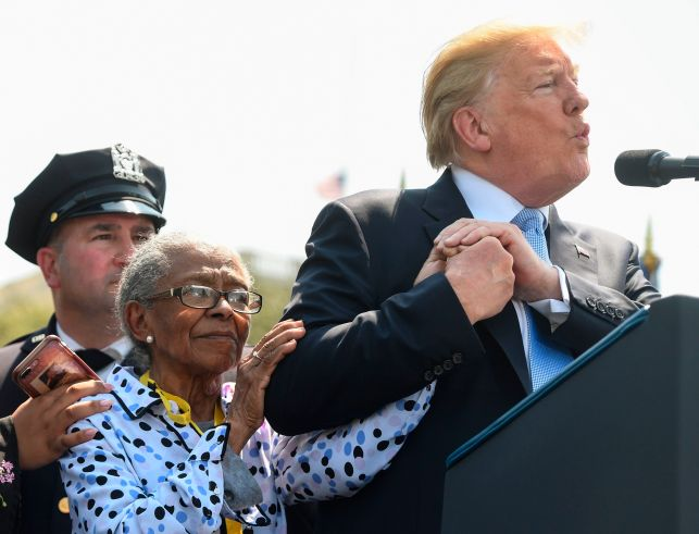 Trump Invited a 90-Year Old Woman Onstage, Kissed Her. There Was Not A Dry Eye In The Audience