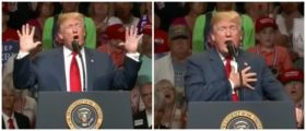 Trump Steps Up, Puts His Hand On His Heart, And Drops A Line That Makes The Entire Room Howl